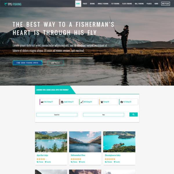 TPG Fishing – Best Premium Responsive WordPress Fishing theme 2