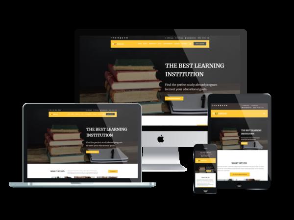 LT Abroad – Premium wordpress study abroad website template 1