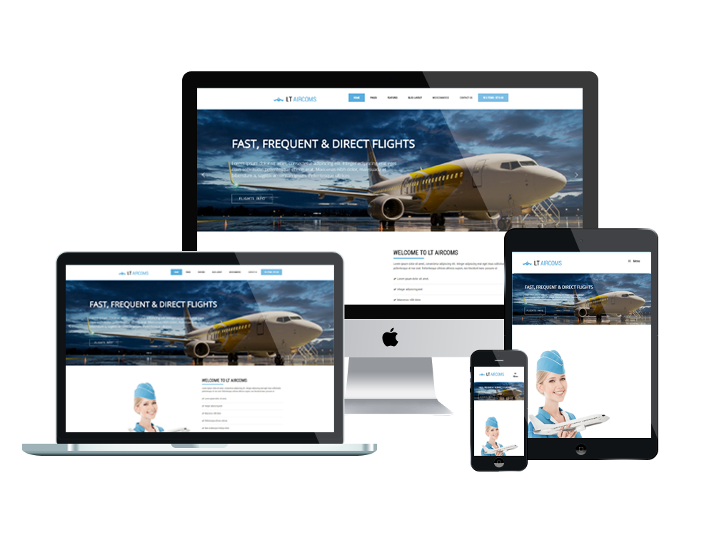 LT Aircoms – Premium One page Airline WordPress Theme 2