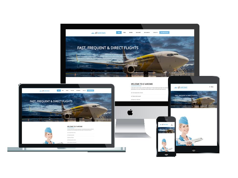 LT Aircoms – Private Airline WordPress Theme 2