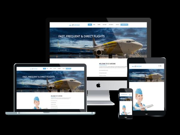 LT Aircoms – Premium One page Airline WordPress Theme 1