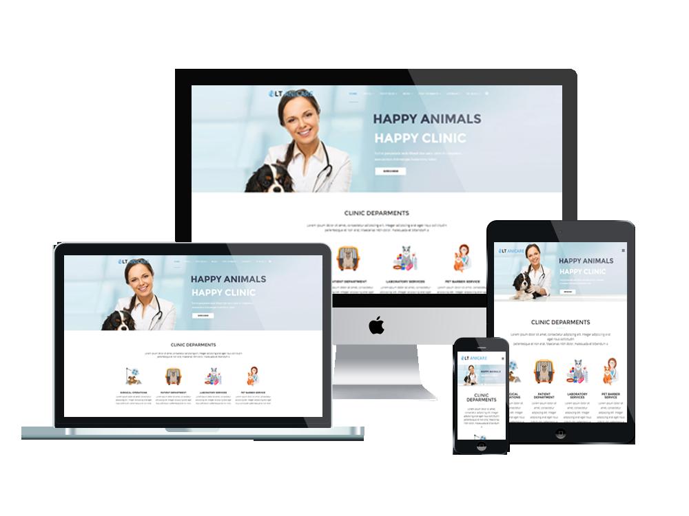 LT Anicare – Premium One Page Pet WordPress theme 2