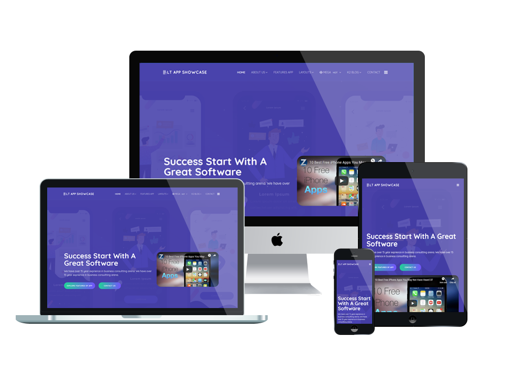 LT App Showcase - Premium Application Showcase WordPress theme 2