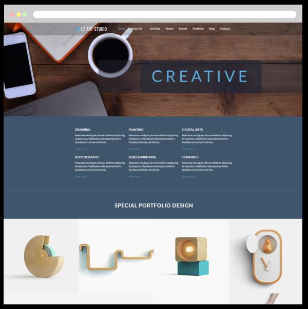 LT Art Studio WordPress Theme