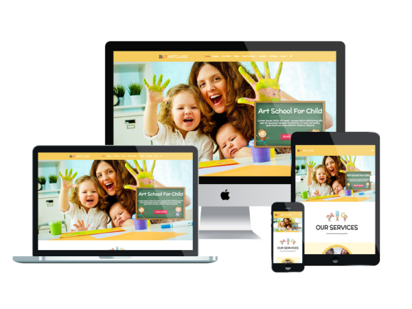 LT ArtClass – Premium One page Painter WordPress theme 1