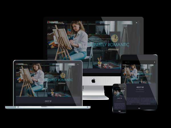 LT Artist – Premium One page artist website template 1