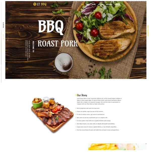 LT BBQ – Premium Onepage restaurant wordpress theme 2