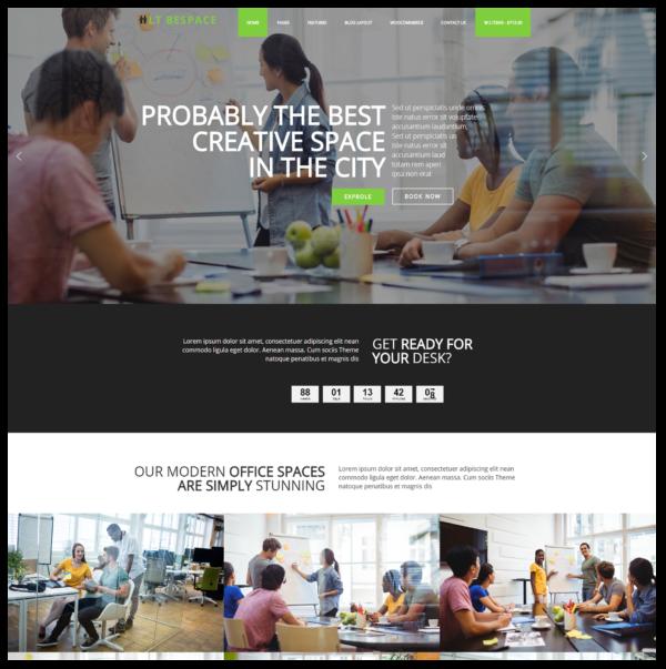 LT Bespace – Premium One page Workspace WordPress Theme 2