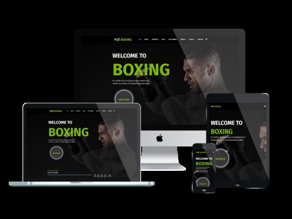 LT Boxing – wordpress sport theme 1