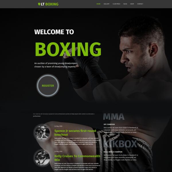 LT Boxing – wordpress sport theme 2
