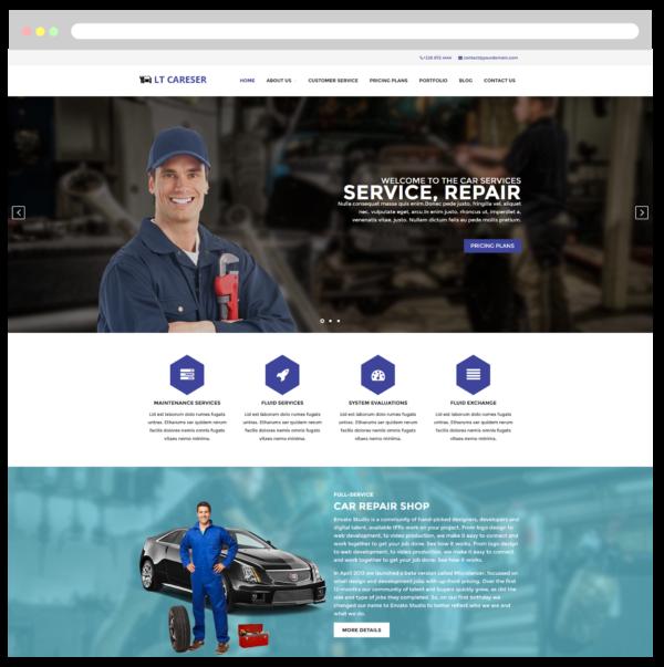 LT Careser– Premium One page Repair WordPress theme 2