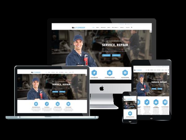 LT Careser– Premium One page Repair WordPress theme 1