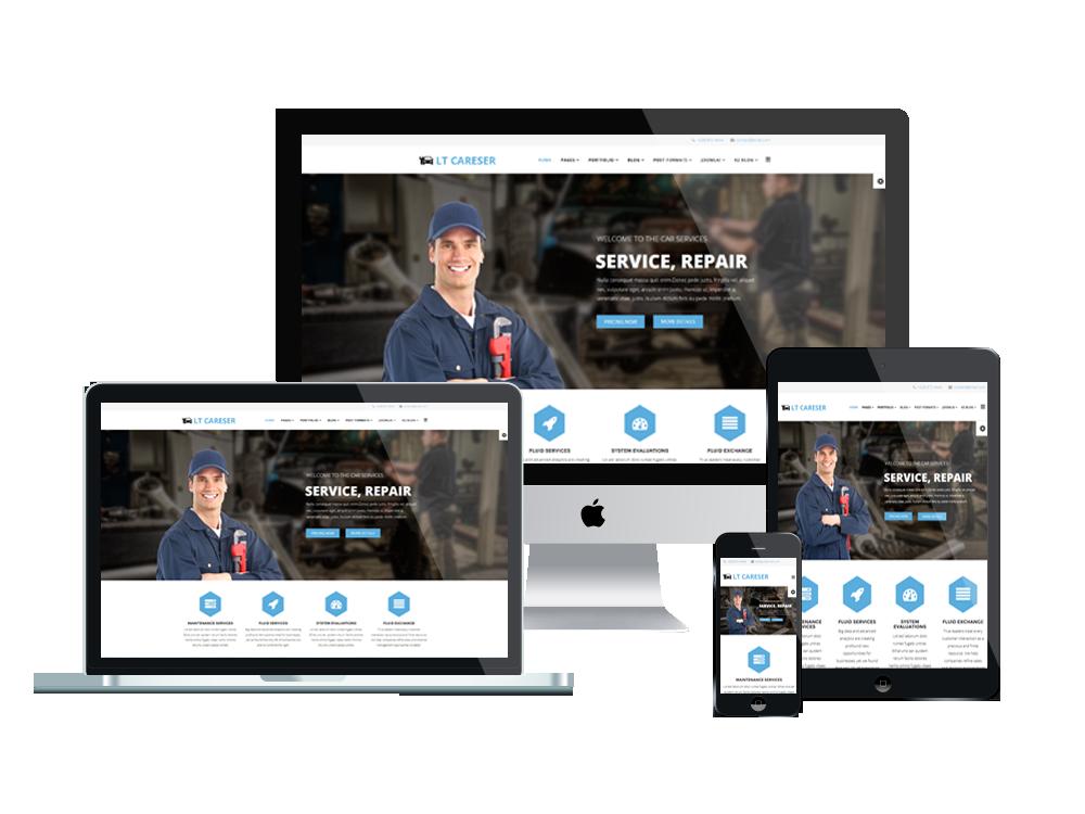 LT Careser– Premium One page Repair WordPress theme 3