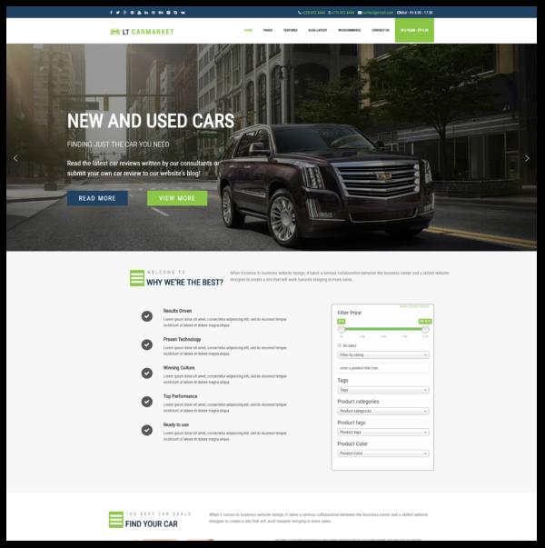 LT Carmarket – Car Dealer WordPress Theme 2