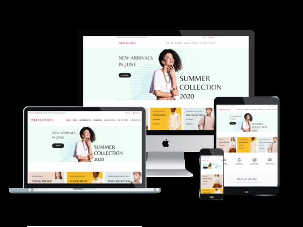 LT Clothes Shop - Premium Online Shopping Cart / Clothes Shop WordPress theme 1