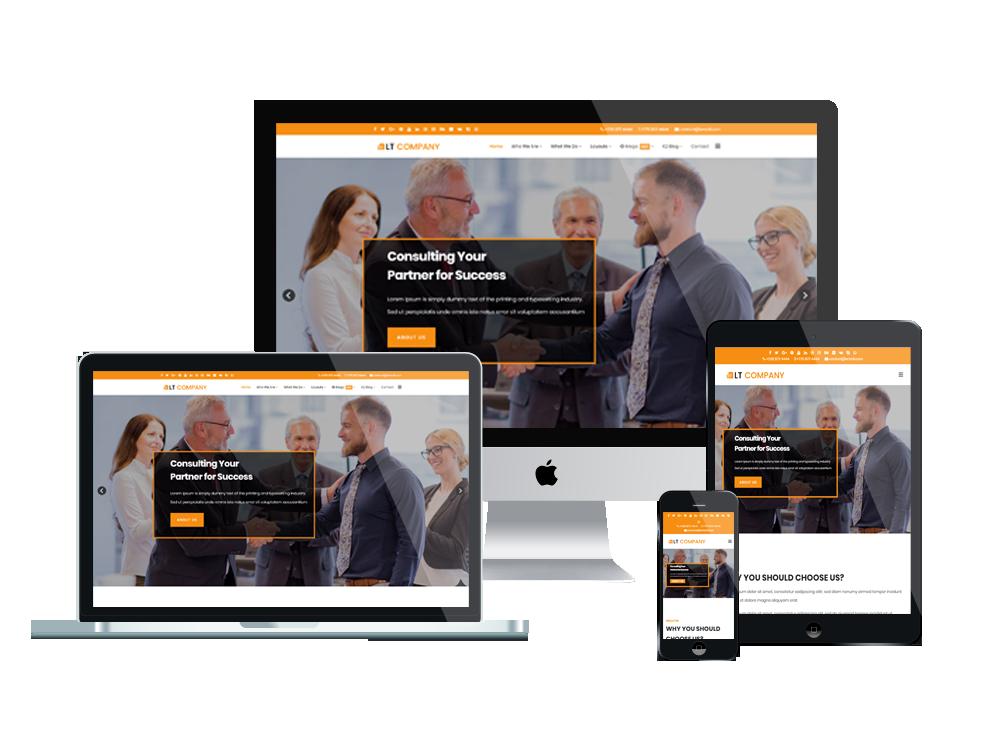 LT Company – Premium Responsive Company WordPress theme 2