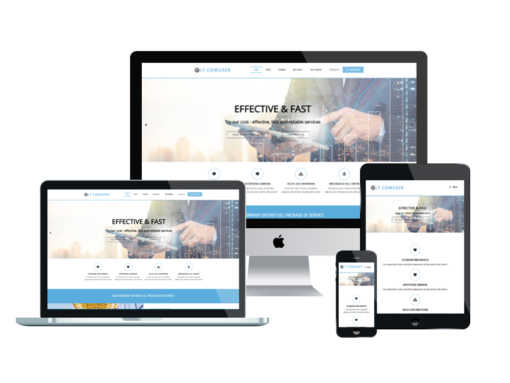 LT Comuser – Communications WordPress Theme 2