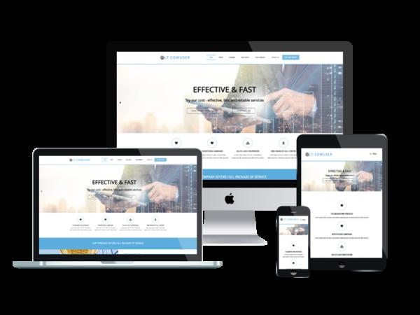 LT Comuser – Premium One page Communication WordPress Theme 1