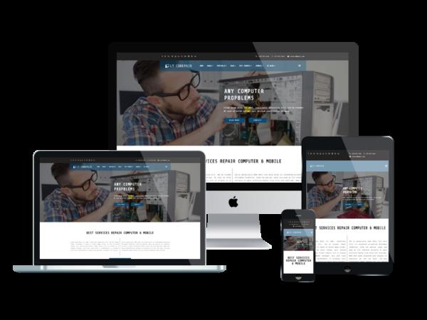 LT CoRepair – Premium One page Computer Repair WordPress Theme 1