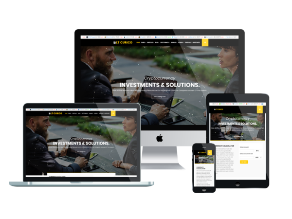 LT Curico – Premium One page Bitcoin WordPress theme 1