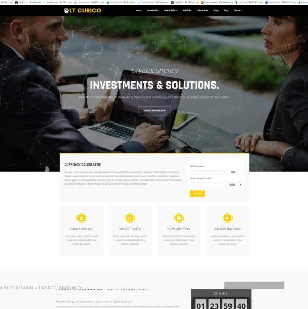 LT Curico – Premium One page Bitcoin WordPress theme 2