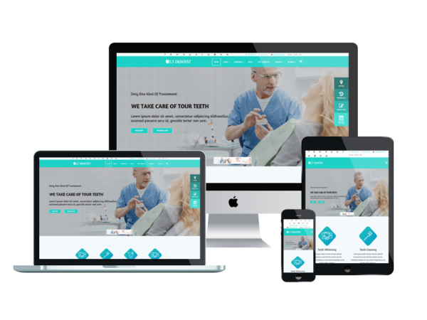 LT Dentist – Premium One page Dentist wordpress theme 1