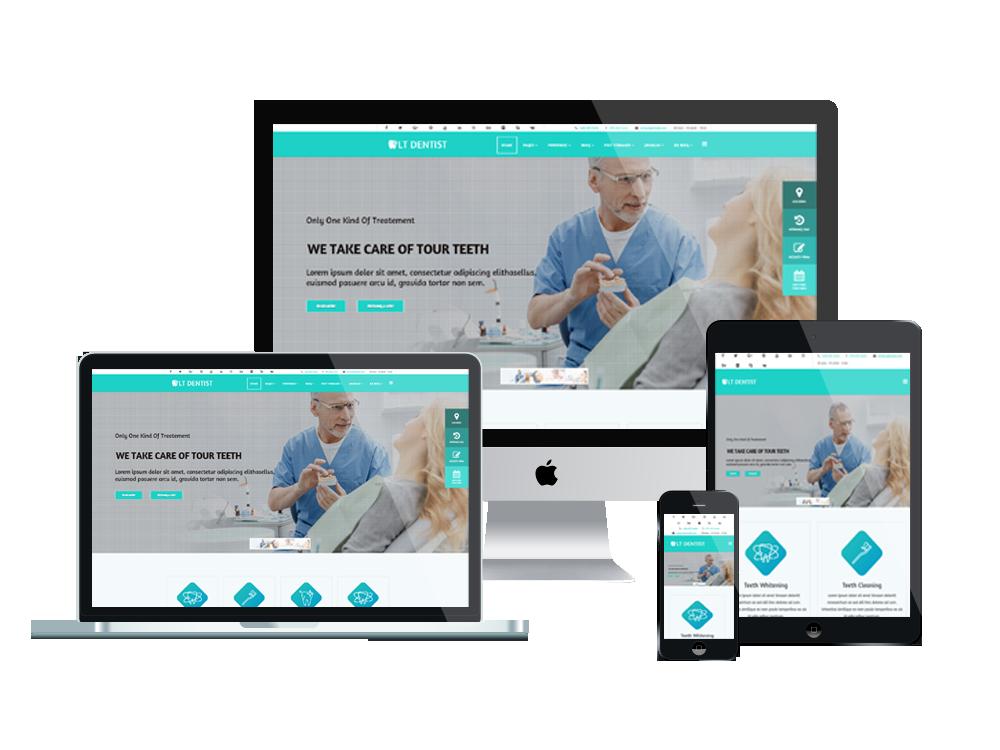LT Dentist – Premium One page Dentist wordpress theme 3