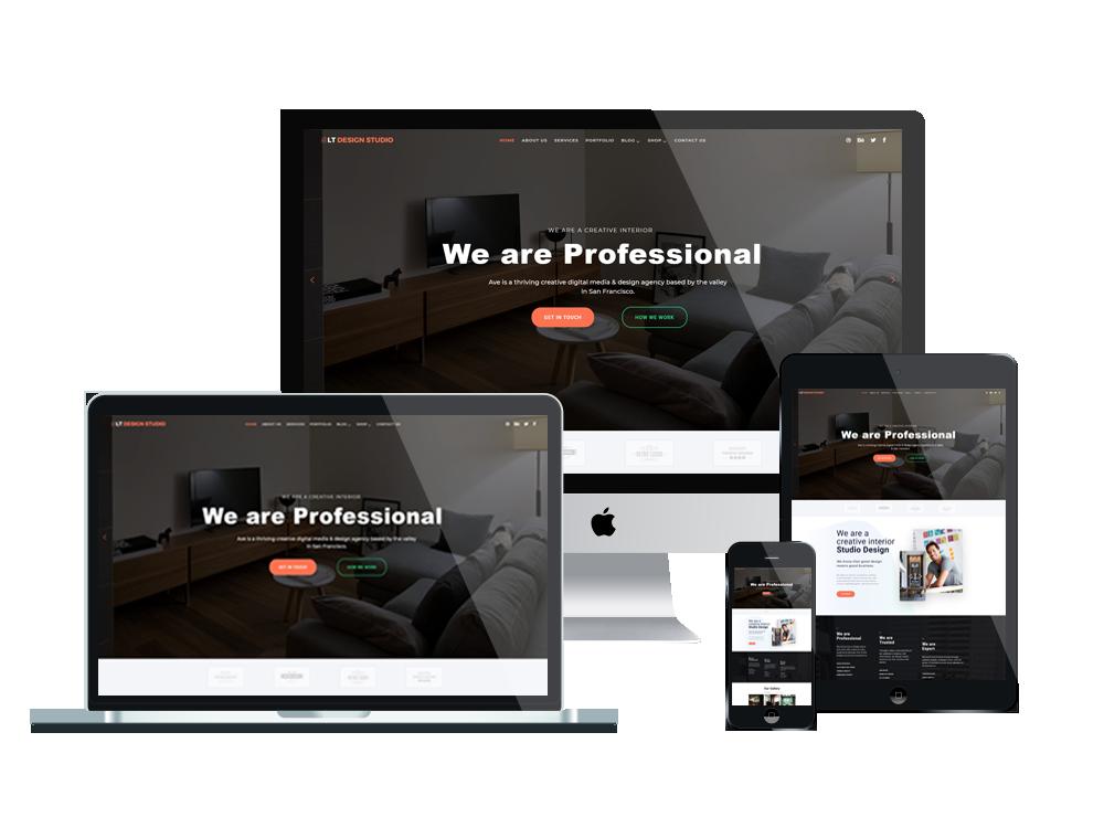 LT Design Studio - Premium Creative / Design Studio WordPress theme 2