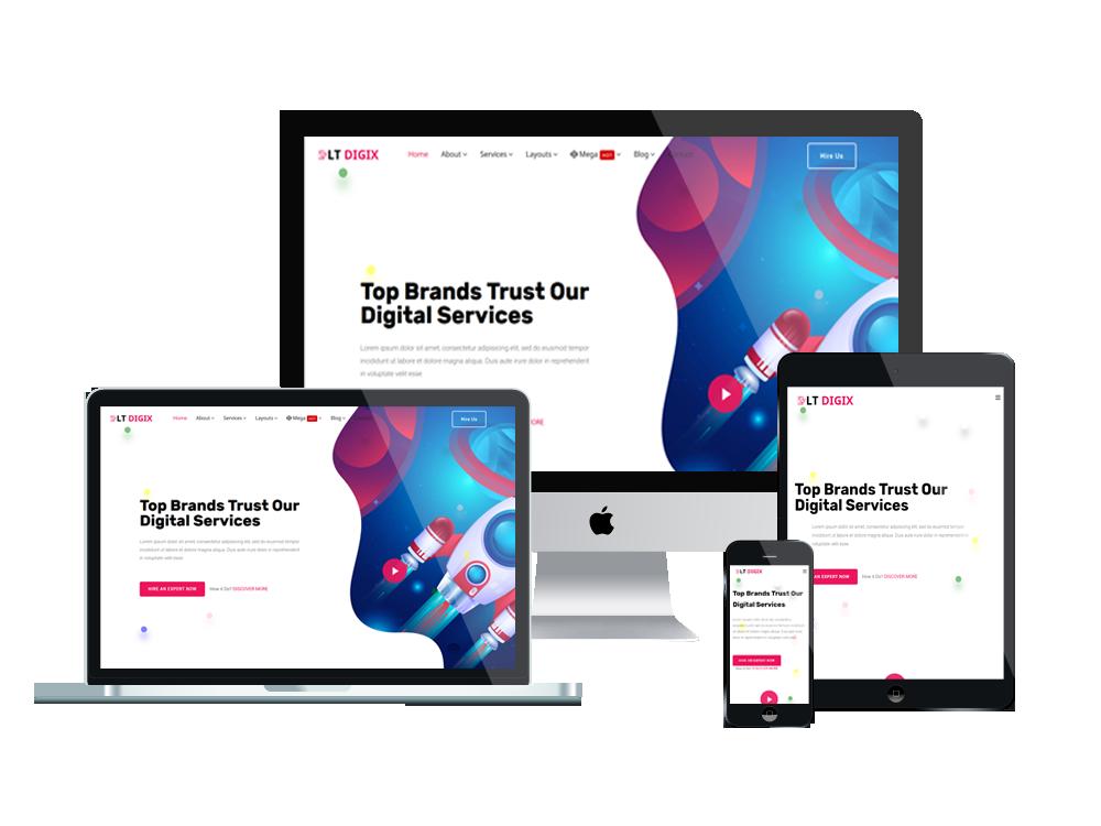 LT Digix – Premium Marketing WordPress theme 2
