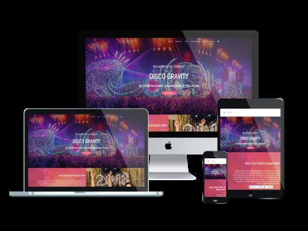 LT Disco – Premium One Page Nightclub WordPress Theme 1