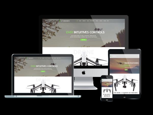LT Drones – Premium One page Drone WordPress Theme 1