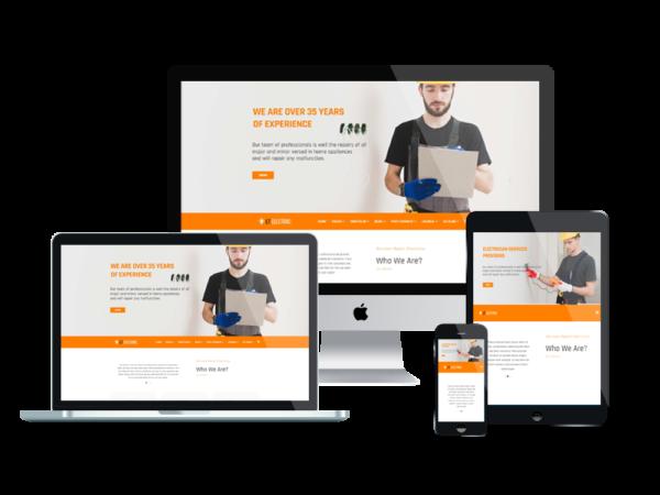 LT Electric – Premium One page WordPress Electrical Theme 1