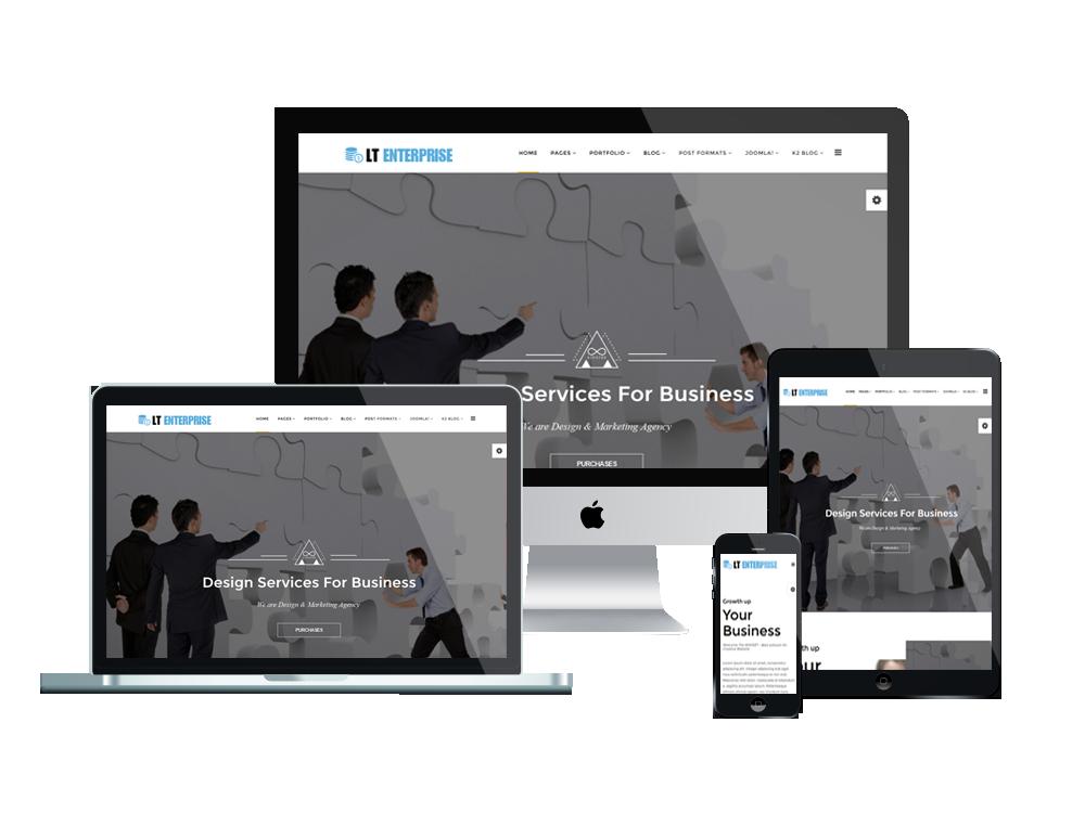 LT Enterprise – portfolio wordpress theme 3