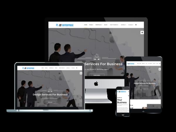 LT Enterprise – portfolio wordpress theme 1