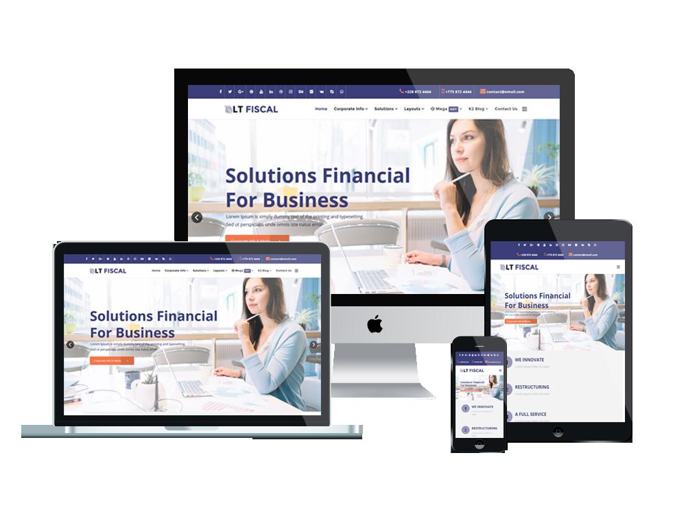 LT Fiscal – Premium Finance wordpress theme 2