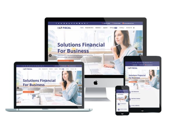 LT Fiscal – Premium Finance wordpress theme 1
