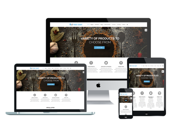 LT Food Court – Premium One page Catering WordPress theme 1