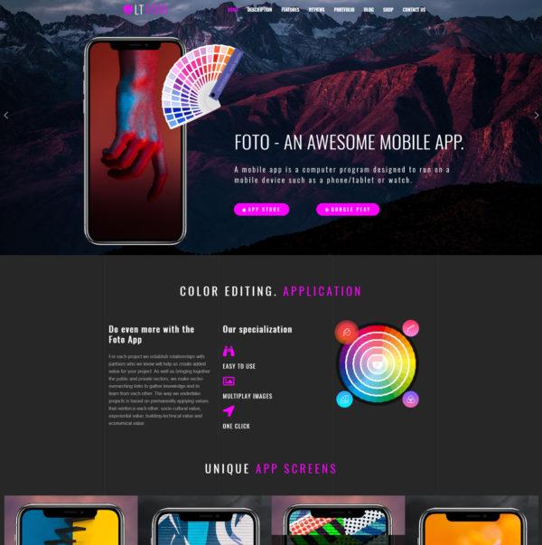 LT Foto – Premium WordPress App theme 2