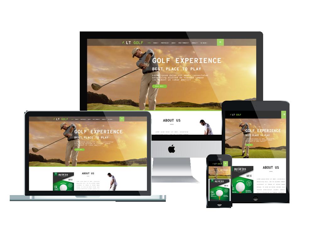 LT Golf – Premium One page WordPress Golf Theme 2