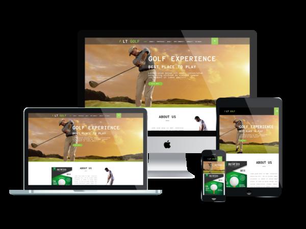 LT Golf – Premium One page WordPress Golf Theme 1