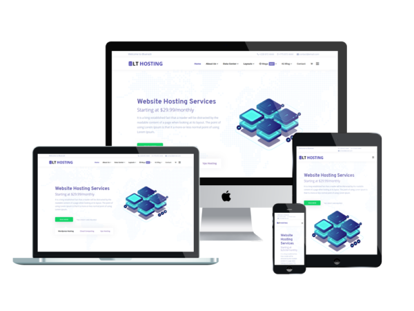 LT Hosting - Premium Server / Hosting WordPress theme 1
