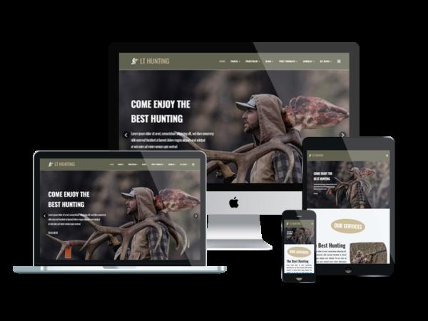 LT Hunting – Premium One Page Hunting WordPress Theme 1