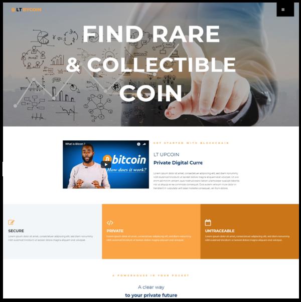 LT ByCoin – Premium business wordpress themes 2