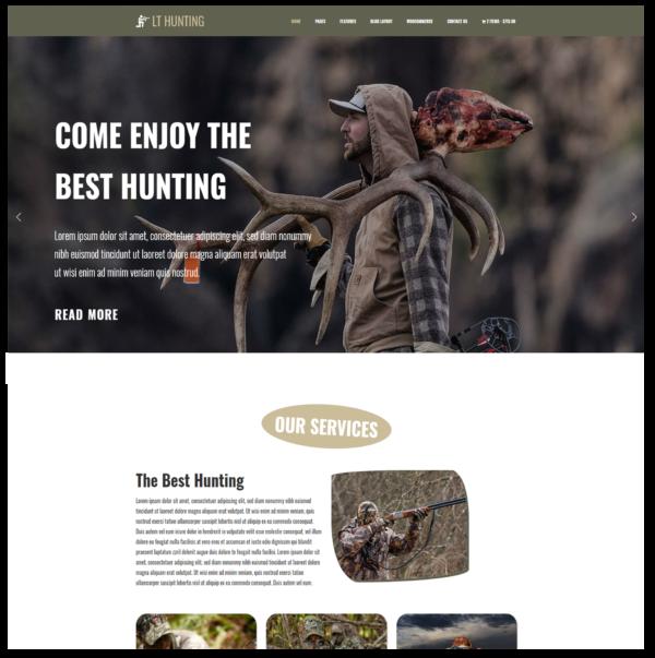 LT Hunting – Premium One Page Hunting WordPress Theme 2