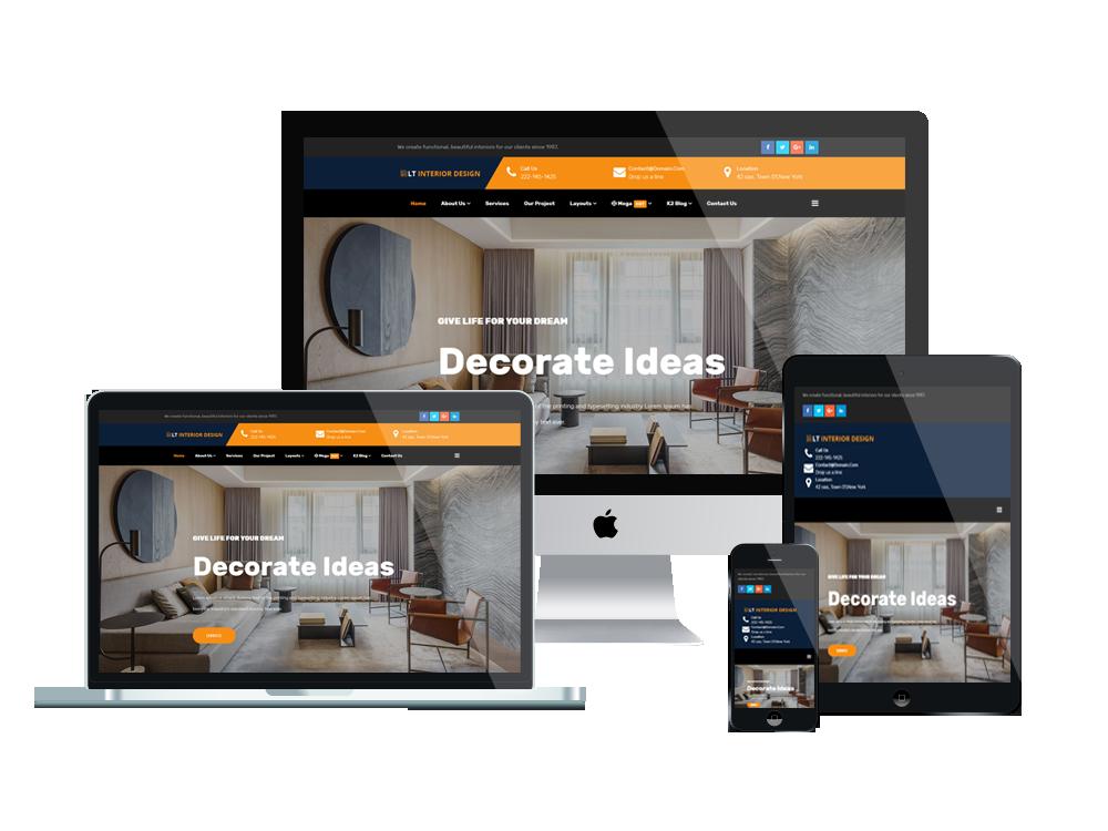 LT Interior Design - Premium Furniture / Interior WordPress theme 2