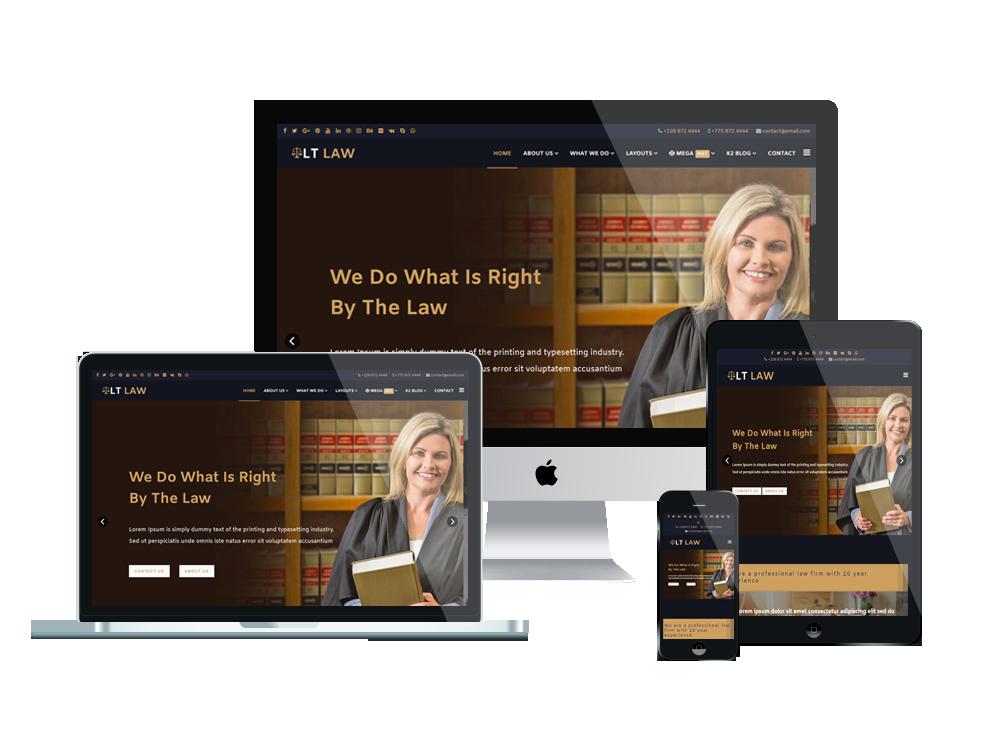 LT Law - Premium Responsive Legal / Law Firm WordPress theme 3