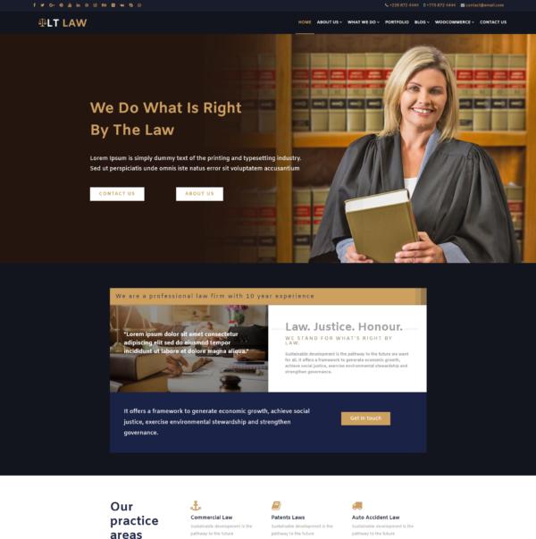 LT Law - Premium Responsive Legal / Law Firm WordPress theme 2