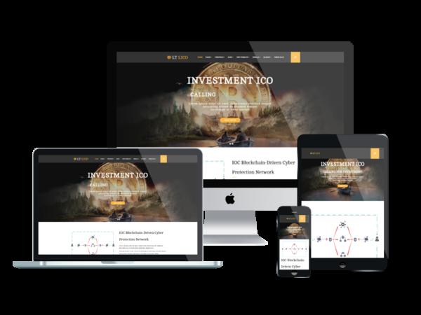 LT Lico – Premium One page Bitcoin WordPress Theme 1