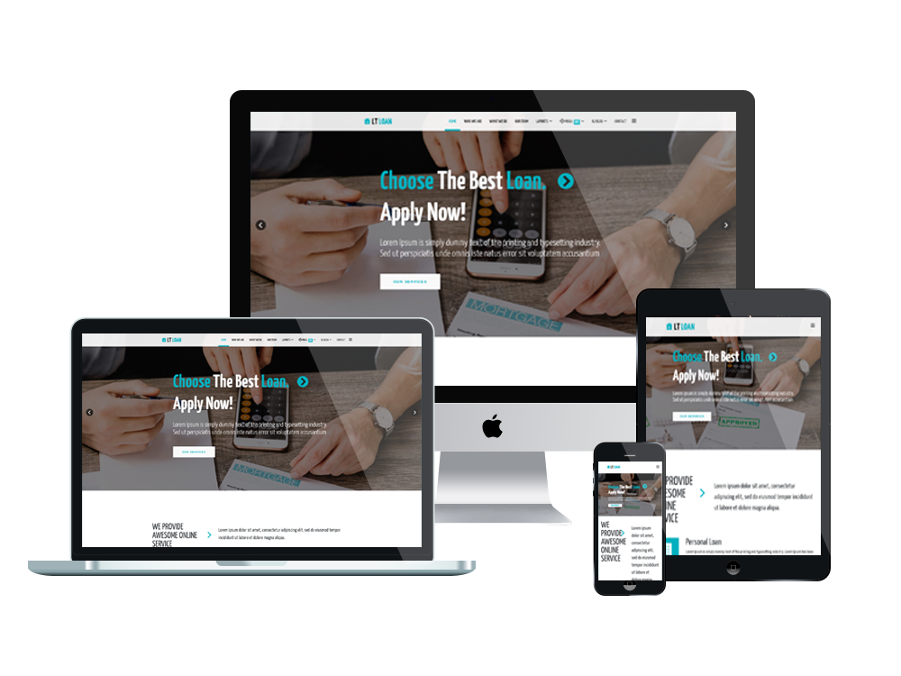 LT Loan – Premium Financial Services WordPress theme 3