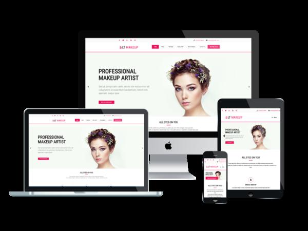 LT Makeup – Premium One page Beauty Salon WordPress Theme 1
